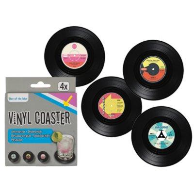 Untersetzer Schallplatte, Vinyl, 4er-Set ca. 10cm